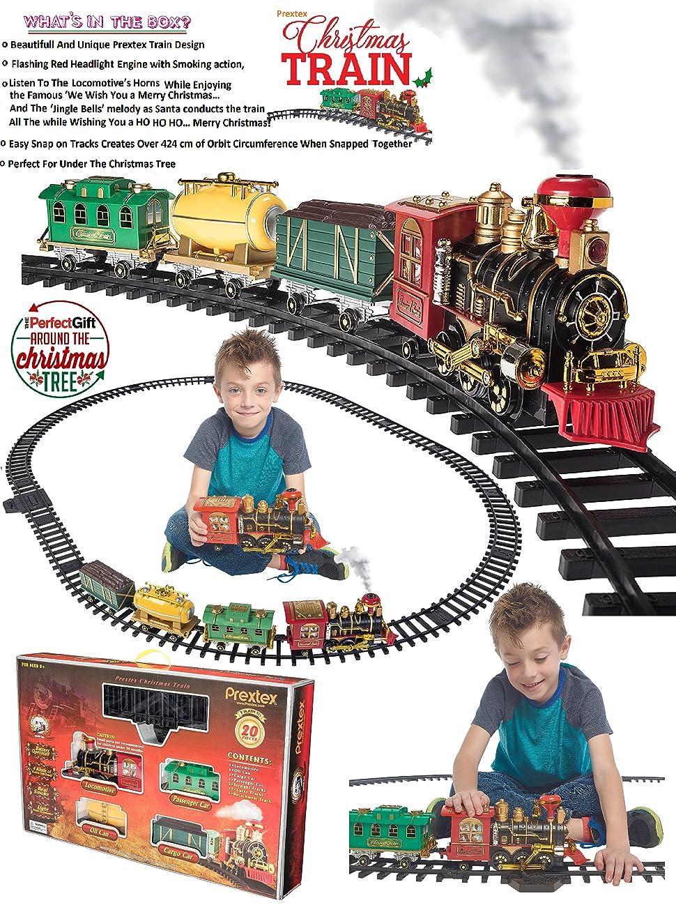 christmas train set around the christmas tree with real smoke music lights - Christmas Tree Train Set