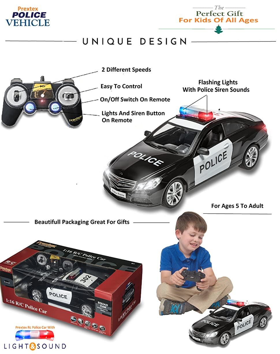 Police Toys For Boys : Amazon prextex rc police car remote control