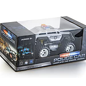 monster rc police car remote control monster truck radio control birthday gift for boys kids toddler