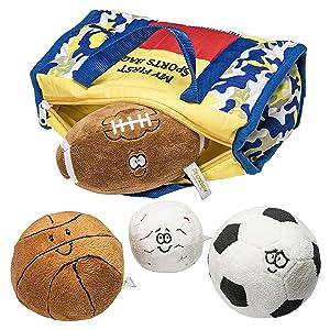 plush balls included