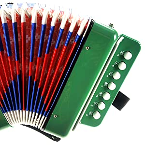 kids accordion toy, children musical instrument, music play book, easy to learn instrument