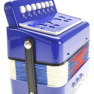 Ten Keys Toy Accordion, Solo and Ensemble Instrument, Musical Instrument Early Childhood Teaching