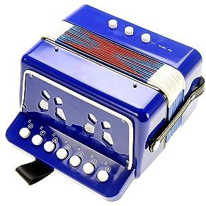 Kids Accordion Ten Keys Toy Ensemble Instrument, Musical Instrument Early Childhood Teaching