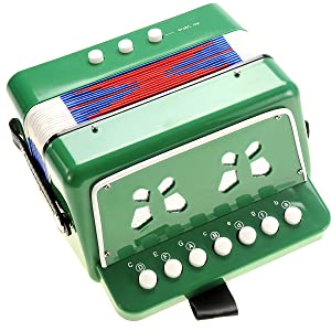 Toy Accordion,Solo and Ensemble Instrument,Musical instrument for Early Childhood Teaching,Ten Keys