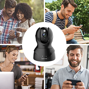 Flashandfocus.com 6bccbac3-721a-4e01-8a8c-21d76b823012._CR0,0,300,300_PT0_SX300__ Security Camera 1080P WiFi Dog Pet Camera - KAMTRON Wireless Indoor Pan/Tilt/Zoom Home Camera Baby Monitor IP Camera…