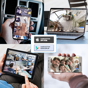 Flashandfocus.com 79274f80-e913-4933-ab27-8da1b08f843e._CR0,0,300,300_PT0_SX300__ Wireless Security Camera,KAMTRON HD WiFi Security Surveillance IP Camera Home Monitor with Motion Detection Two-Way…