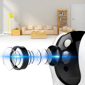 Flashandfocus.com c43f811e-2528-4e19-aad7-84a0414b3817._CR0,0,300,300_PT0_SX300__ Wireless Security Camera,KAMTRON HD WiFi Security Surveillance IP Camera Home Monitor with Motion Detection Two-Way…
