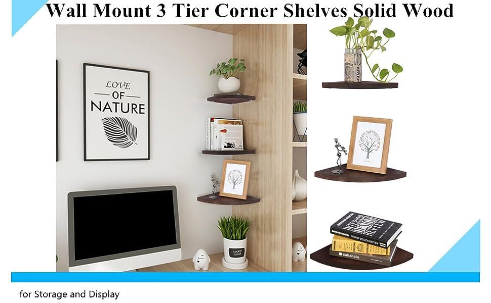 Corner Shelves Set of 3