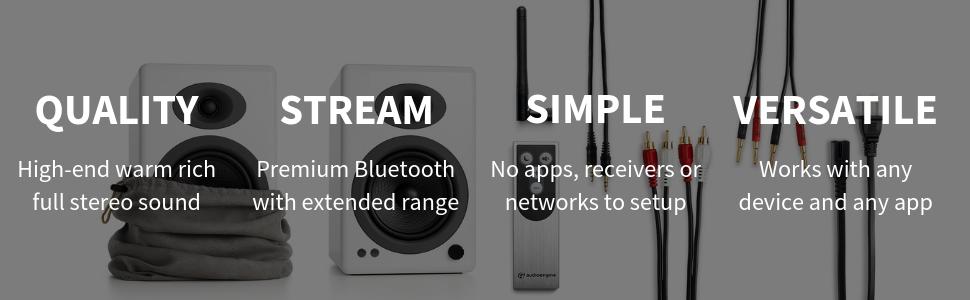 A5 audio, a5 wireless, a5, audioengine a5, bluetooth audiophile speakers, Bluetooth speaker spotify