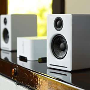 b8bd7539937 Amazon.com  Audioengine A2+ White (Pr.) 2-Way Powered Speaker System ...