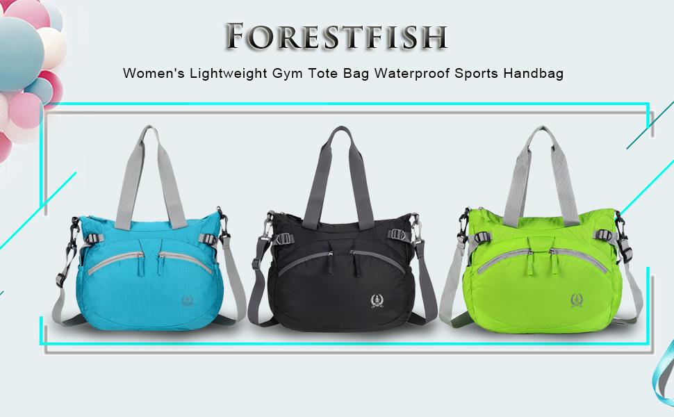 Forestfish Women/'S Lightweight Gym Tote Bag Waterproof Sports Handbag