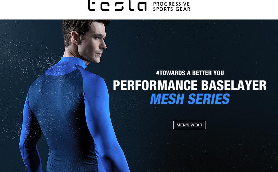 TSLA Boys Long Sleeve T-Shirt Baselayer Cool Dry Compression Top