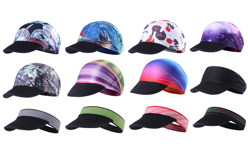 5c255ff83ae Amazon.com   rnairni Muitifunction Sports Yoga Headband Sun Visor ...