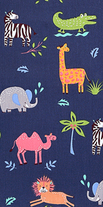 Toddler Pillowcases 14x19 Navy Animals