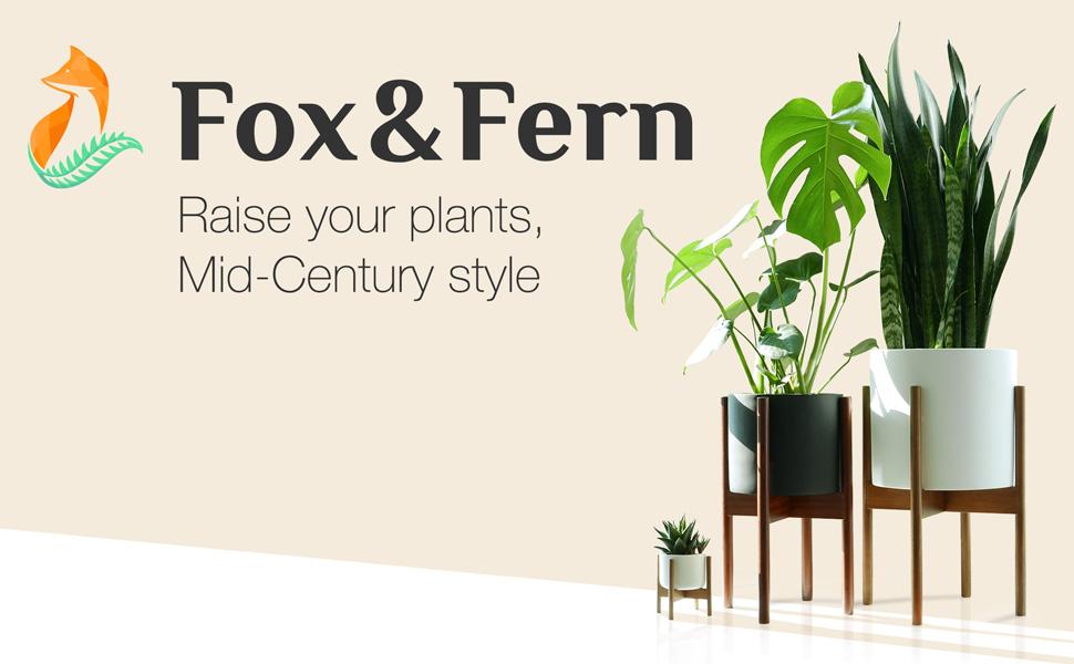 amazon com fox fern mid century modern plant stand adjustable