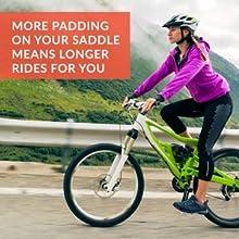 Cycling Comfort Padding Bike Seat Bike Seat Cushion Bicycle Saddle Gel Saddle