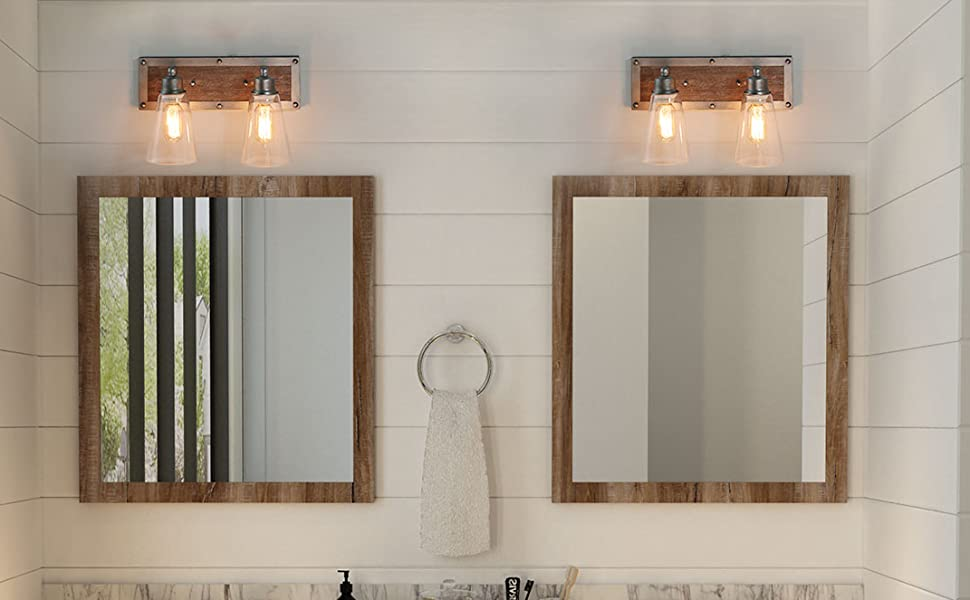 Vanity Lights For Bathroom FARMHOUSE CRAFTSMAN STYLE VANITY LIGHT