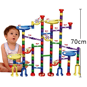 Amazon Com Meland Marble Run Toy 122 Pcs Marble Game Stem