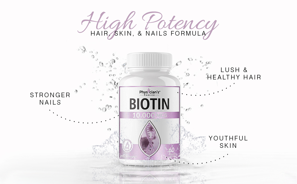 Biotin for Hair Growth 10000mcg High Potency