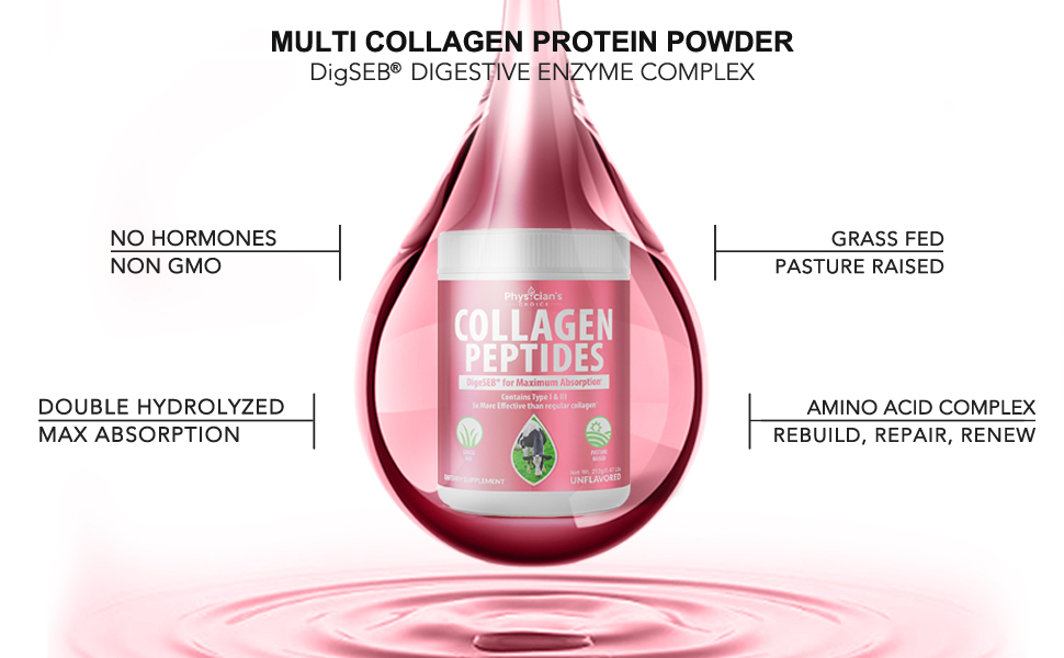 100% Double Hydrolyzed Collagen Peptides