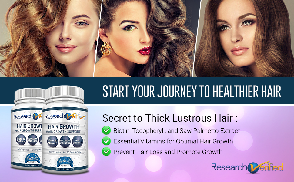 Amazon Com Research Verified Hair Growth Support With