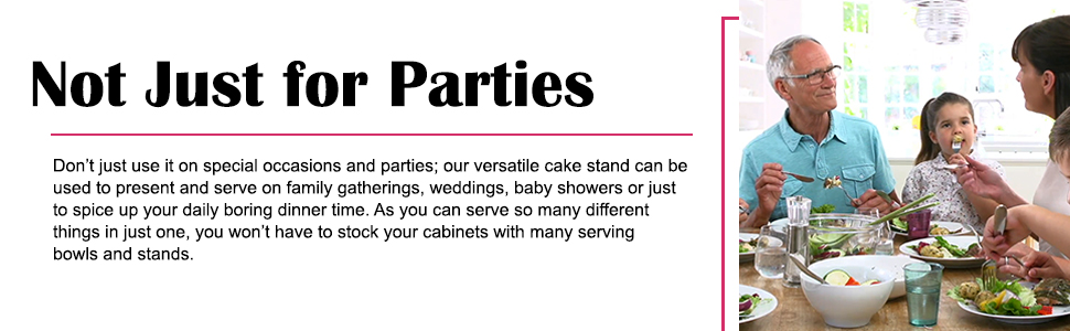 Cake decorating stand can be used on several occasions such as weddings, gatherings and events