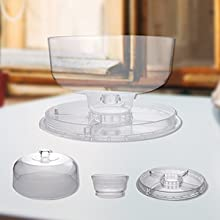 Domed cake stand is crafted from premium quality and food safe material for hygiene