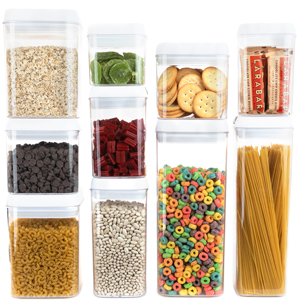 Nuts storage container has a see through design which allows you to see the contents