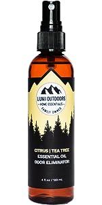 lumi outdoors shoe deodorizer spray foot odor eliminator essential oil deodorant