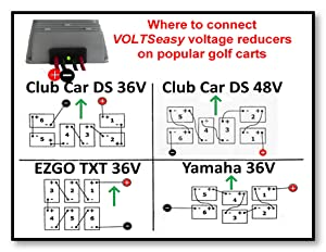 amazon com liteseasy deluxe golf cart x2l bright led light kit w yamaha golf cart lift kit voltseasy voltage reducer included with this kit