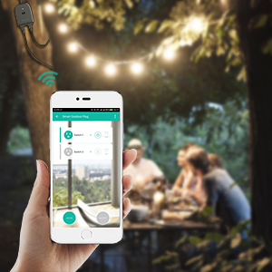 Outdoor Smart Plug, Maxcio Outdoor Wi-Fi Outlet with 2 Sockets, Compatible  with Alexa and Google Home, Wireless Remote Control/Timer by Smartphone,