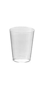 Disposable Round Hard Plastic Cups - Clear Tumblers 10oz - 2 Pack (40 Cups)