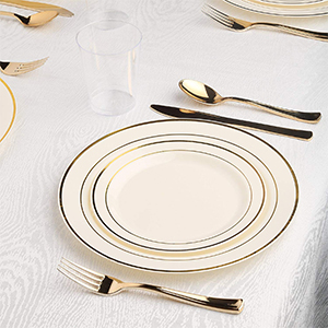disposable plastic dinnerware set party package