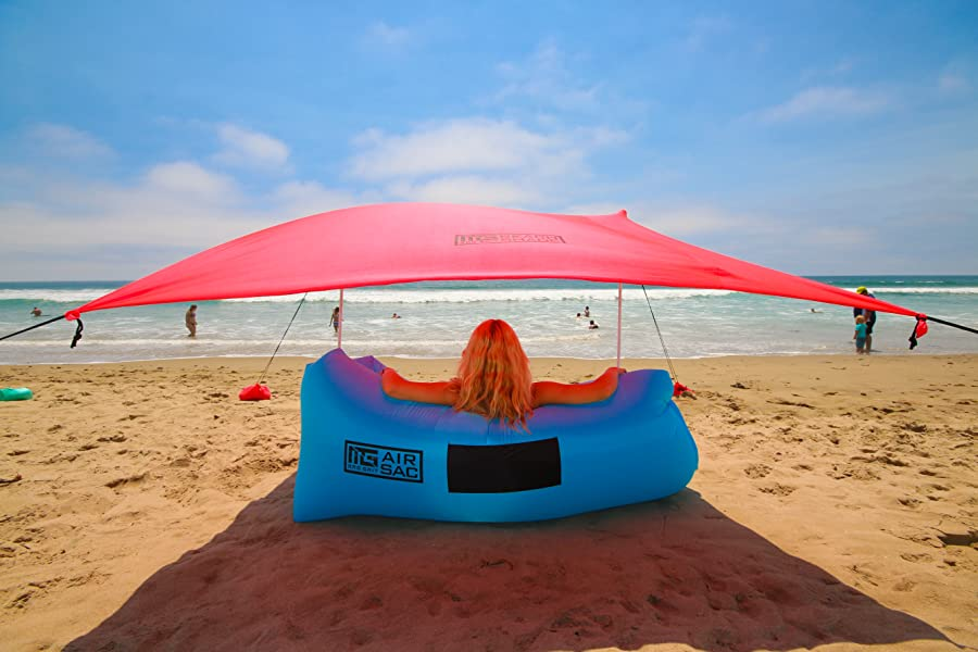 The Best u0026 Brightest Family Beach Shade by Mad Grit & Amazon.com: Mad Grit Insane Deal Beach Shade Tent - UV Protection ...