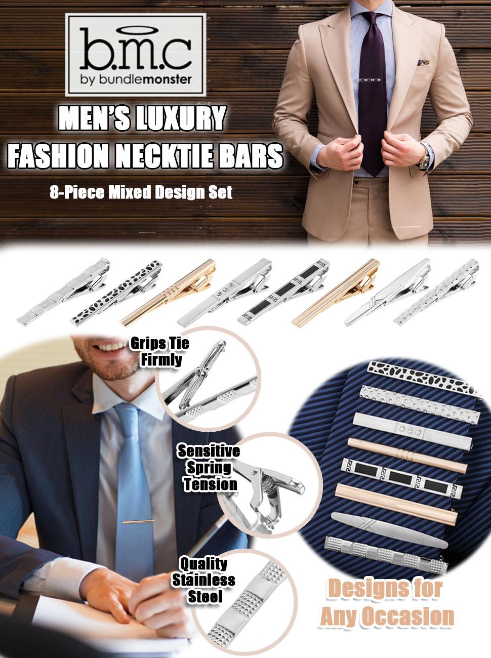 Amazon.com: BMC pasadores de diseño corbatas clips Bar ...