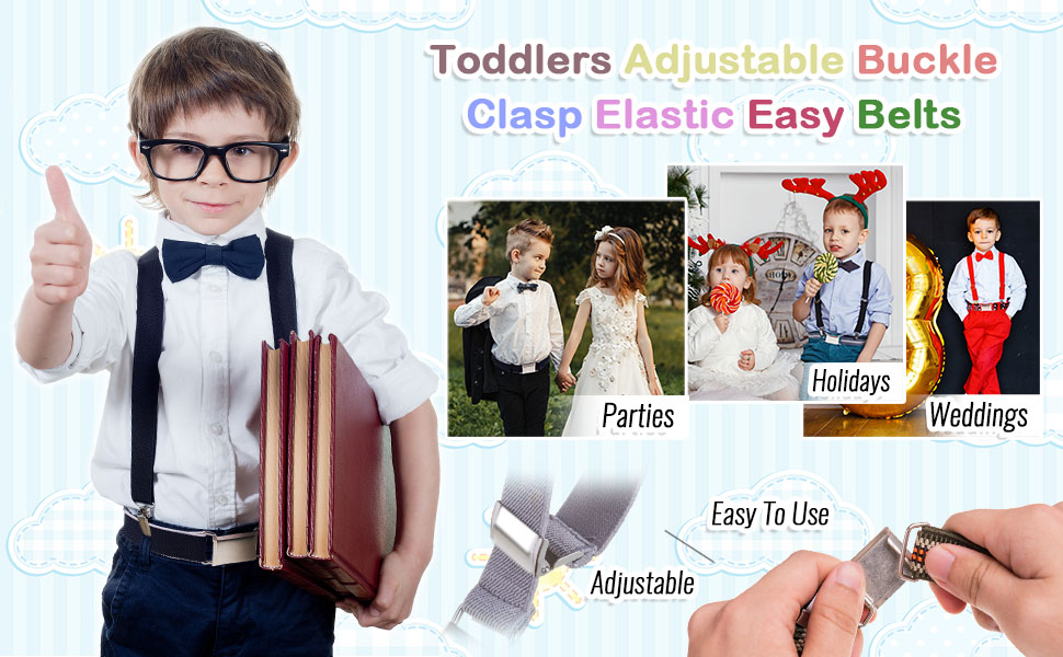 Toddlers Adjustable Buckle Clasp Elastic Belts