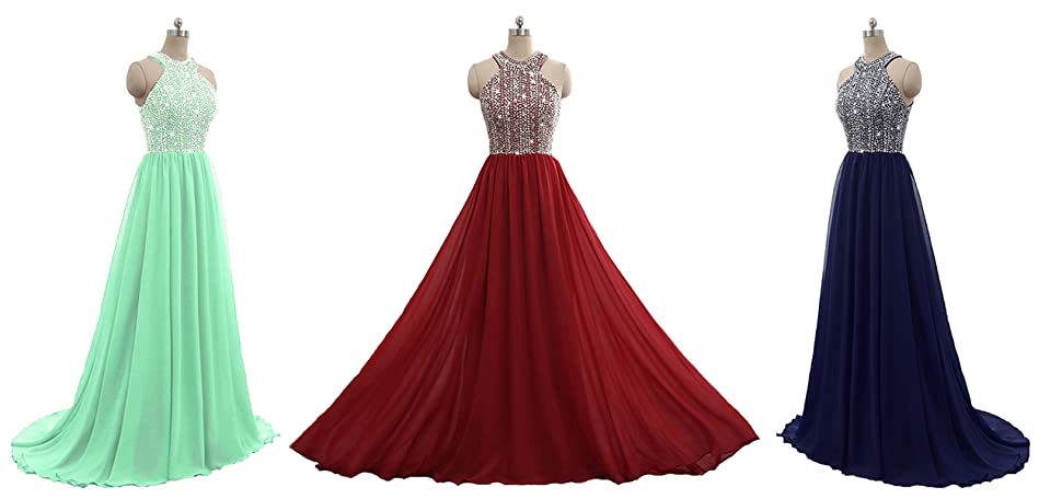 Still Waiting Women\'s Sparkly Crystal Prom Dresses Long 2018 Beading ...