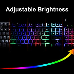 adjustable backlit RGB keyboard
