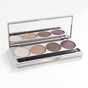 eye shadow palette, paleta, natural cosmetics, naked, nude, matte, vegan, gluten free, cruelty free