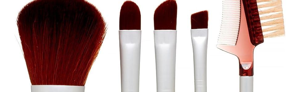 natural makeup brush, premium, synthetic, cruelty free, vegan, bamboo, no shed, blending, cosmetic