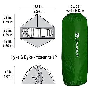 Yosemite 1P Dimensions