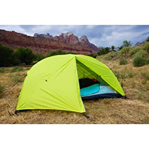 HIKE FARTHER with this LIGHTWEIGHT SINGLE POLE BACKPACKING TENT (ultralight configuration weighs barely over 3 lbs.) Summit any mountain or c& by the ...  sc 1 st  Amazon.com & Amazon.com : Hyke u0026 Byke Zion Two Person Backpacking Tent with ...