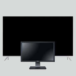 Luminoodle TV bias lighting fits monitors and tvs of all sizes