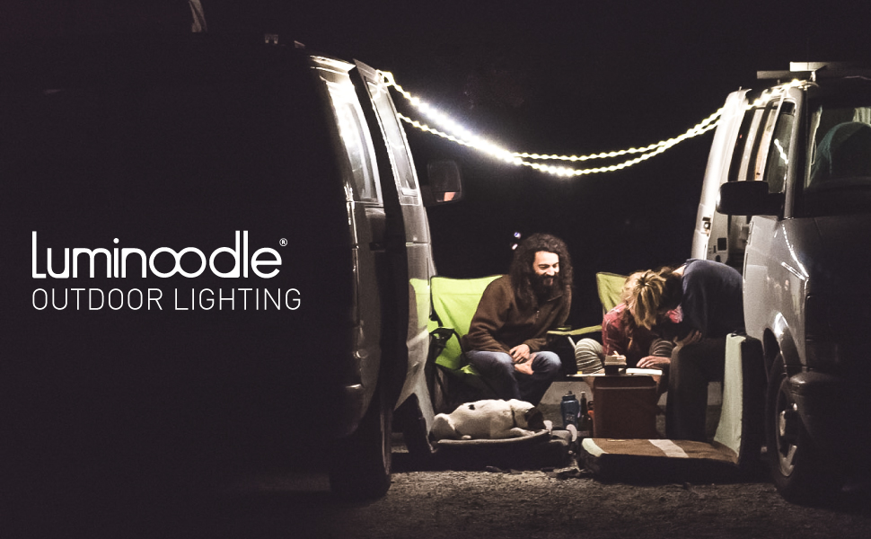 Luminoodle Outdoor Lighting for camping, hunting, picnic, boating, and patio
