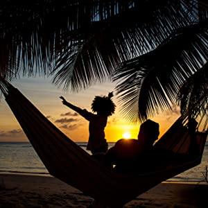 restful romantic and relaxing  days turn into nights while enjoying the barbados hammock  amazon     recycled cotton single brazilian barbados hammock by      rh   amazon