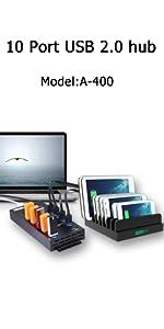 10 PORTS USB 2.0 HUB