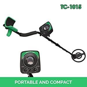 Weighing in at only 3.8 lbs, and measuring in at 30-40 inches long x 7.5 inches wide, the TC-1015 is a portable and compact metal detector for children and ...