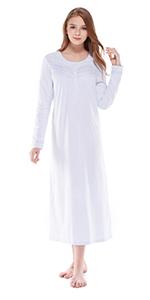 Keyocean Women Pajamas Set All Cotton Long Sleeve Long Pant Soft ... 26bb3b6f8