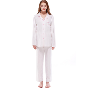 Keyocean Pajama Set for Women Soft All Cotton Long Sleeves Sleepwear ... 3cb0af7c7