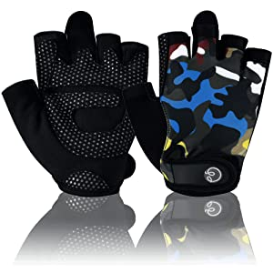 training gloves camouflage fitness workout exercise colorful